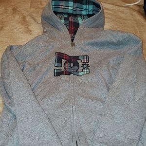 DC zip up sweatshirt